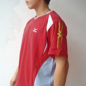 Mizuno Mens Volleyball Jersey Shirt Red s M L