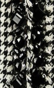 The Collective Works of Berek Wool Blend Houndstooth Jacket Medium