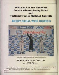 Michael Andretti Hand Signed Indy Car Magazine JSA COA