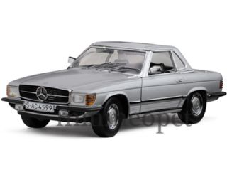 Sun Star 1977 Mercedes Benz 350 SL Coupe Hard Top 1 18 Silver