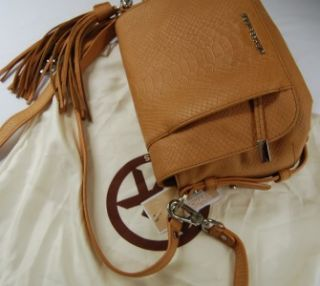 298 Michael Kors Bowen Python Convertible Shoulder Bag Tan