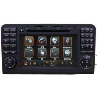 06 11 Mercedes Benz ML350 Car GPS Navigation 2Din Radio TFT 7 inch TV