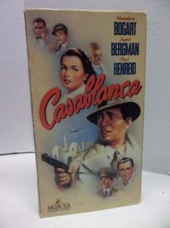 Casablanca VHS Classic Movie Video Tape Ingrid Bergman Humphrey Bogart