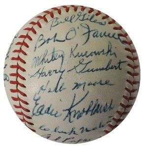 1967 Old Timers Day 24 Signed Official Baseball Jessie Haines Jocko