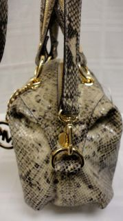 Authentic michael Kors Large Python Leather Moxley Satchel Handbag