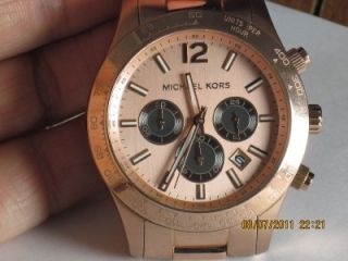 Michael Kors MK 8186 Mens Chrono Stainless Steel Watch
