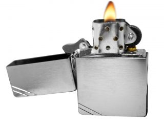 Zippo Lighter 1935 Replica Brushed Chrome Windproof New