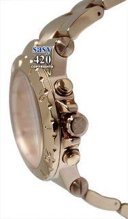 Michael Kors MK5314 Chrono Rose Gold Dial Stainless Steel Band Women