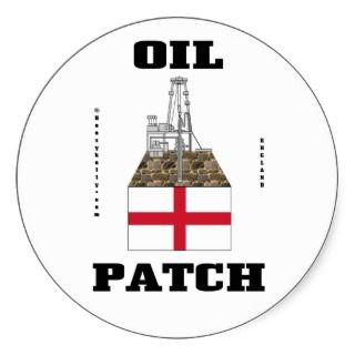 English Oil Patch Sticker,England,Oil,Gas,Decal