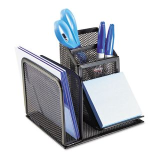 Rolodex Wire Mesh Desk Organizer w/Pencil Storage, 5 3/4 x 5 1/8 x 5 1