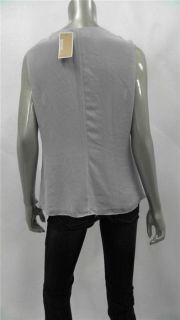 Michael Kors Petite Womens Luxury Sleeveless Blouse Top Sz PL Rouched
