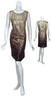 Michael Michael Kors Dazzling Ombre Sequin Evening Dress Womens 3X New