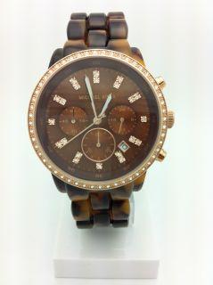 Michael Kors MK5366 Ladies Watch Chronograph Tortoise Acetate Crystal