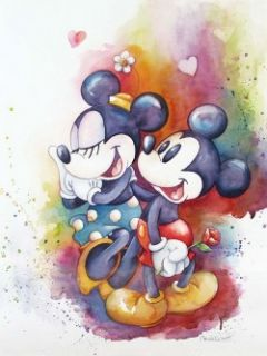 Mickey Mouse Disney Artist Michelle St Laurent Jigsaw Puzzle