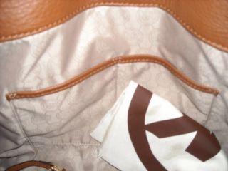 Beautiful Michael Kors Hamilton whipped purse. Gold whip stich trim