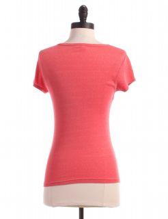 Michael Stars OSFM Pink Crossover T Shirt Top