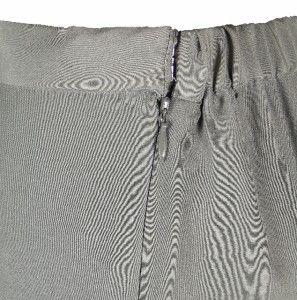 Sutton Studio Womens Gray Silk Side Zip Stretch Back Pants Asstd