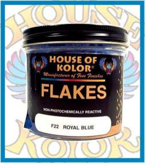 House of Kolor F22 Royal Blue Metal Flakes Custom Paint
