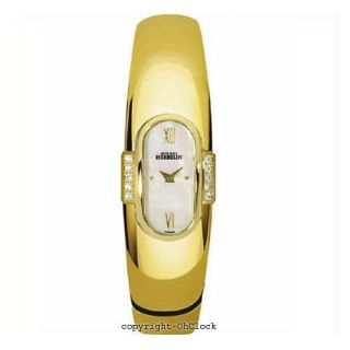 Michel Herbelin Ladies Watch 18K Gold Plated Mother of Pearl Dial 1050