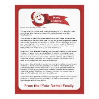 Create Your Christmas Letter Online Personalized Letterhead