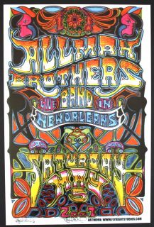 Allman Brothers Band 2007 Jay Michael Concert Poster