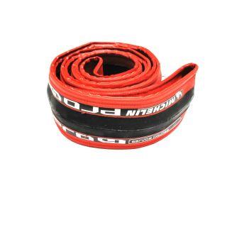 One Michelin Pro 4 Tire 700 x 23c Services Course Red Clincher Bike