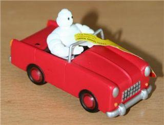 Plastoy Michelin Man Figure in Red Car