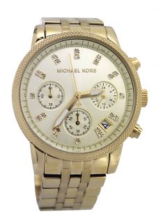 Michael Kors MK5676 Champagne Dial Gold Stainless Steel Band Women