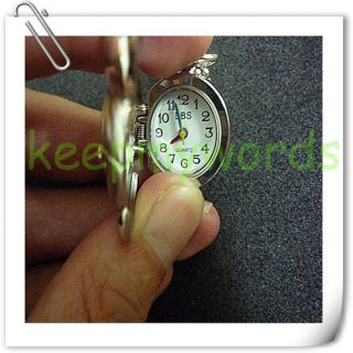 Mickey Mouse Necklace Pendant Clock Pocket Watch Box