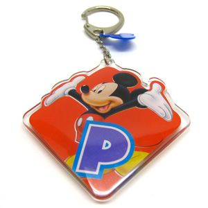 one brand new Disney Mickey Mouse Clear Lucite Initial P Key Ring
