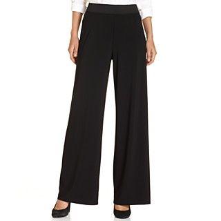 Alfani Sleeveless Metallic Beaded Top & Wide Leg Pants   Womens