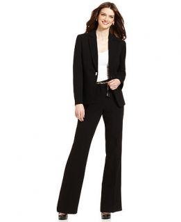 Tarahi by ASL Suit, Jacket & Chain Link Belted Trousers   Womens Suits