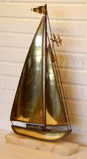Huge 22 Demott Vintage Mid Century Modern Eames Sculpture Sailboat