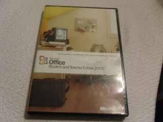 Microsoft Office Student and Teacher Edition 2003 Full Version