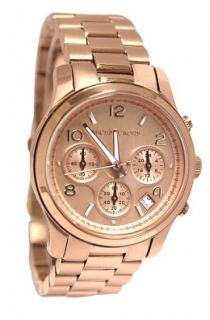 Michael Kors MK5128 Runway Rose Gold Dial Stainless Steel Band Women