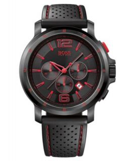 Hugo Boss Watch, Mens Black Silicone Strap 1512393   All Watches