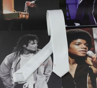 Michael Jackson Dangerous Tie White MJ Costumes Cotton Replica Cool