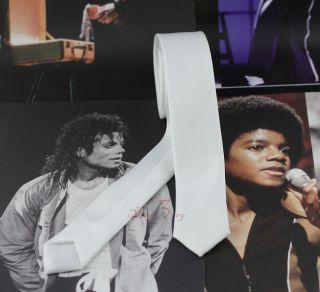 Michael Jackson Dangerous Tie White MJ Costumes Cotton Replica Cool