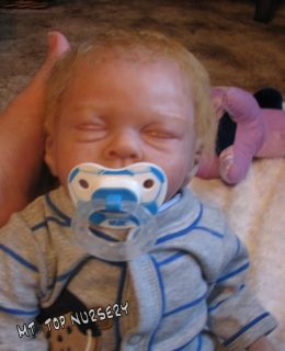 Reborn Baby Boy Easton by Michelle Fagan Lifelike Beating Heart Box