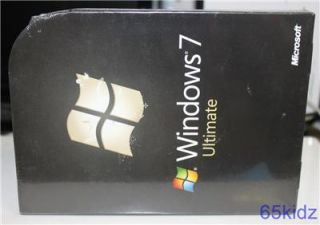 Microsoft Windows 7 Ultimate Software Full Retail New SEALED Package