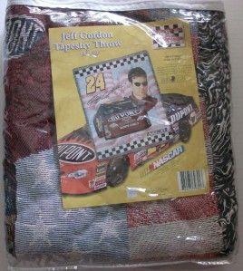 Jeff Gordon Tapestry Throw 50 x 60 24 NASCAR Hendrick Motorsports