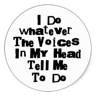 The voices in my head stickers