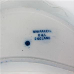 Flow Blue Nonpareil Bone Dish Plaes Middlepor Saffordshire