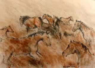Lisa Lynch Gesture Horse 2003 Limited Edition Hand Signed Framed L K