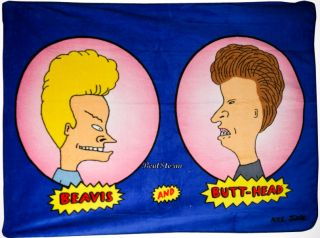 New Beavis and Butt Head MTV Mike Judge Cartoon Fleece Throw Blanket
