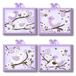 Lavender Migi Blossom Birdie Nursery Bedding Kids Art