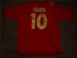 Michael Owen #10 Three Lions England National Football Team Soccer