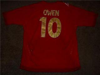 Michael Owen #10 Three Lions England National Football Team Soccer
