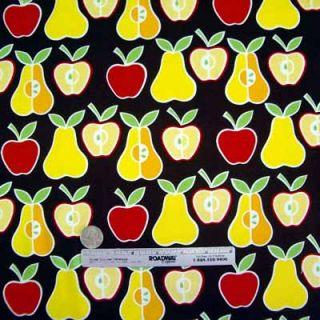 Alexander Henry Apples Pears Brown Red Fabric Yd