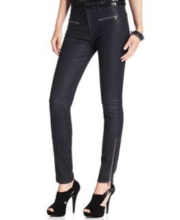 For All Mankind Jeans, Savanah Skinny Zipper Black Wash